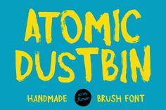 乾いたブラシで作成された原子ゴミ箱私の新しい手作りの書体 http://simonstratford.com/atomic-dustbin-font/
