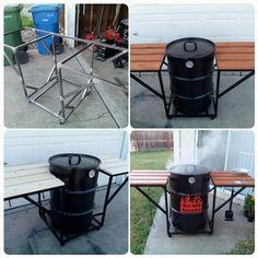 Uds (ugly drum smoker)  built in my garage.