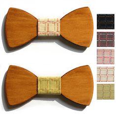 9ee3334ae5c Aliexpress.com   Buy 2016 female casual bow tie man wedding wood bowtie  designer mariage necktie women plaid wooden neckwear male papillon neck tie  from ...