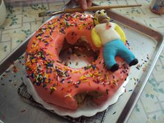 ... on Pinterest | Donut cakes, Donut birthday cakes and Simpsons cake