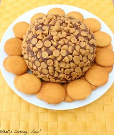 Chocolate Peanut Butter Cake Cheese Ball.../