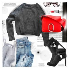 """""""Red Bag"""" by dragananovcic ❤ liked on Polyvore featuring American Apparel, Sergio Rossi, 3.1 Phillip Lim, Moschino and Kjaer Weis"""