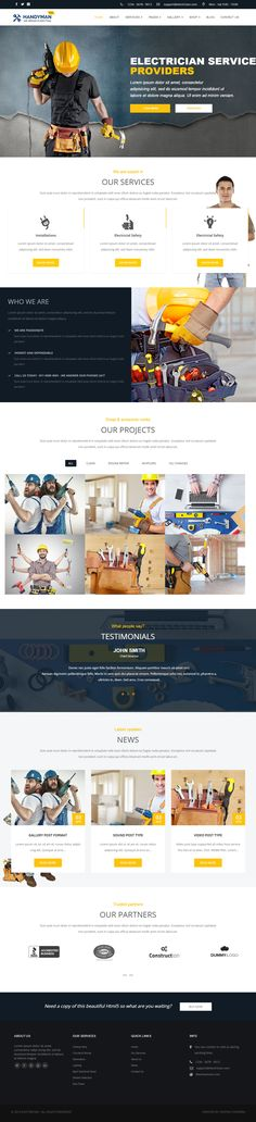 Handyman is Premium full Responsive Retina #WordPress Theme. If you like this #WooCommerceTheme visit our handpicked list of best #Electrician Themes at: http://www.responsivemiracle.com/best-responsive-wordpress-electrician-themes/