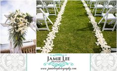 The Westin at Marina Village | Cape Coral Wedding Photographer | Jamie Lee Photography | Outdoor Lawn Ceremony | White Chairs, White Rose Petals on Aisle | Ceremony Flowers by Enchanted Florist