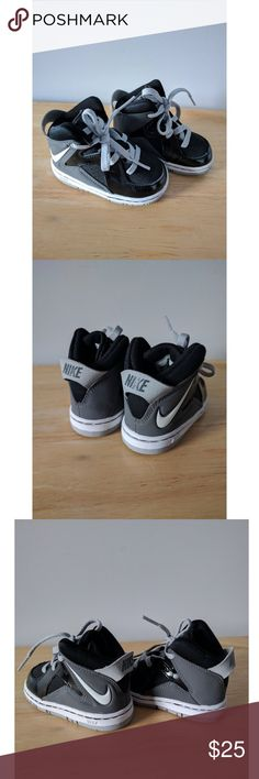 Toddler Nike Sneakers NWOT Nike Sneakers for toddler in flawless condition. Black, white, and gray. Size: 4C Nike Shoes Sneakers