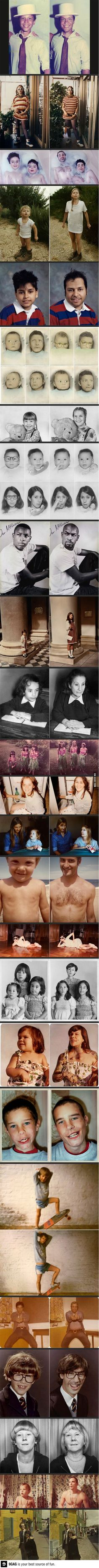 Lets make your own then and now photos