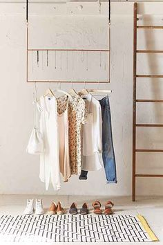 Ceiling Clothing Rack