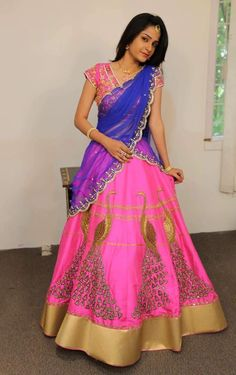 You'll know how it feels when someone doesn't rec… General Fiction Lehenga Designs Simple, Half Saree Designs, Blouse Designs, Dress Designs, Half Saree Lehenga, Sari, Saree Dress, Lehenga Dupatta, Bridal Lehenga