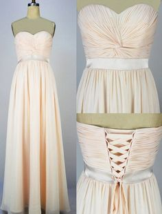 Bridesmaid dresses, long chiffon prom dress lace up, long evening gown