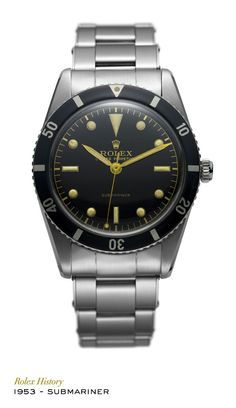 The Rolex Submariner, first wristwatch waterproof to a depth of 100 metres (330 feet), was fitted with a rotatable 60-minute graduated bezel. It became waterproof to 200 metres (660 feet) the same year and to 300 metres (1,000 feet) in 1979. #RolexOfficial