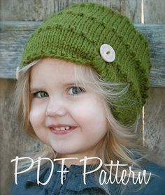 Knitting PATTERNThe Ashlyn HatToddler Child by Thevelvetacorn