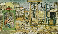 Villemard 1910 - En L'An 2000 - Chantier de construction electrique by amphalon, via Flickr
