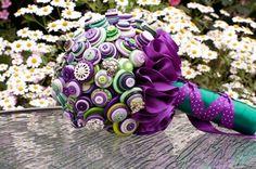 Cadbury Purple and Green Button Bouquet