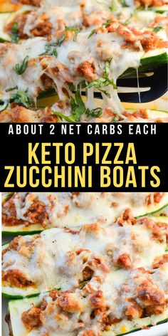 These easy Keto Pizza Zucchini Boats have about 2 net carbs each and only 5 simple ingredients! This is the perfect way to satisfy those pizza cravings on a low carb diet!  #keto #lowcarb Pork Recipes, Lunch Recipes, Low Carb Recipes, Cooking Recipes, Healthy Recipes, Pizza Recipes, Breakfast Recipes, Philsbury Recipes, Quick Healthy Lunch