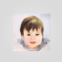 """Logan"" Original art by: PinkyFLizares 2015 #painting #baby #innocence"