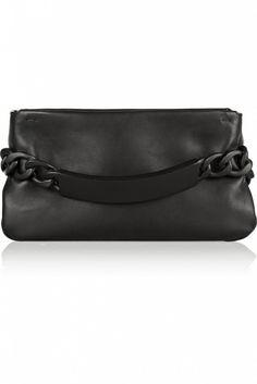 fae72af2fbd Maison Martin Margiela Chain-Embellished Leather Clutch Designer Clothes  Sale, Discount Designer Clothes,