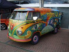 Hippie vans   Hippy style VW van