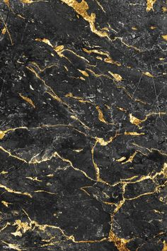 Gray and gold marble textured background free image by Chim Black And Gold Marble, Yellow Marble, Grey And Gold, Gray Marble, Black White Pink, Gold Gold, Pink Grey, Gold Texture Background, Black Marble Background