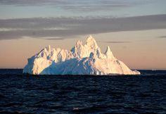 A dawn iceberg in #Antarctica