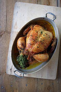 Täytetty kokonainen kana // Oven roasted chicken Food & Style Joonas Laakso, Onko nälkä? Photo Joonas Laakso www.maku.fi