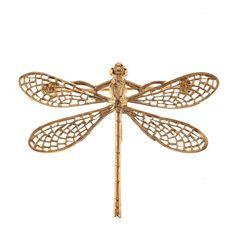 Broche libellule or - doré - Lila Conti - Ref: 468426 | Brandalley