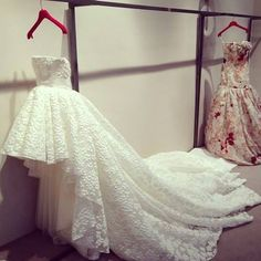 high low wedding dress! kinda am in love with this.  <3