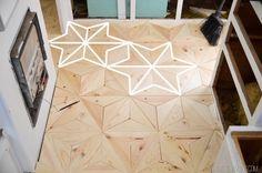 DIY Geometric Wood Floor Star vintagerevivals.com-28