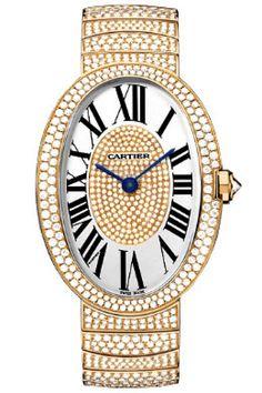 Cartier HPI00325 Baignoire Large - швейцарские женские часы наручные, золотые с бриллиантами
