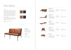 I created a series of 24 two-, four-, and brochures that detail technical information about furniture. These brochures are used every day by architects and furniture retailers who need detailed information about the products offered by NOR… Furniture Brochure, Furniture Ads, Furniture Layout, Furniture Design, Furniture Retailers, Kitchen Furniture, Web Design, Page Design, Layout Design