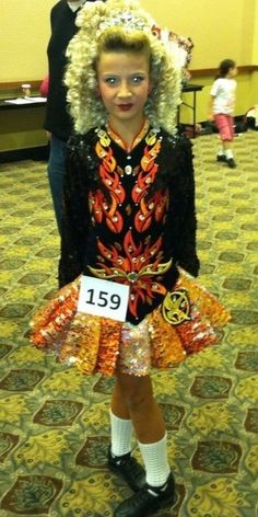 Hunger games solo dress? Irish dance has just reached a whole new level of insanity :)