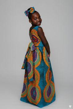 Robe Africaine Fillette, Mode Africaine Robe, Mode Senegalaise, Habit Enfant,  Robe Fillette