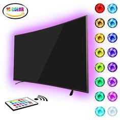 TV Hintergrundbeleuchtung,LED Strip RGB USB Stimmungslicht Für 40 bis 60 Zoll HDTV mit Remote.LED Streifen
