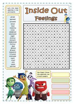 INSIDE OUT FEELINGS - WORDSEARCH