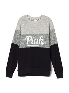 """Collegiate Crew - PINK - Victoria's Secret : would want this color or the marl with """"purple"""" ( blue in my opinion)"""