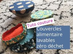 - Bottle Crafts - Tuto : couvercle alimentaire lavable Sewing tutorial to sew washable food cover or charlottes. Ideal to continue the zero waste approach. Sewing Projects For Beginners, Diy Projects To Try, Sewing Patterns Free, Free Sewing, Sewing Hacks, Sewing Tutorials, Sewing Tips, Creation Couture, Couture Sewing