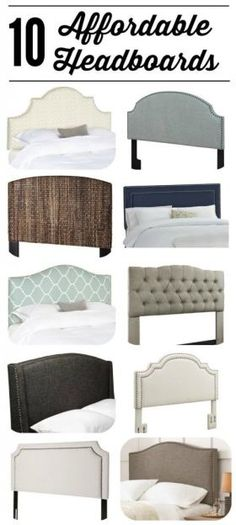 WOW! All of these gorgeous headboards are UNDER $300! Fabulous source list of affordable headboards