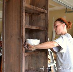 how to make tall bookshelves, painted furniture, storage ideas