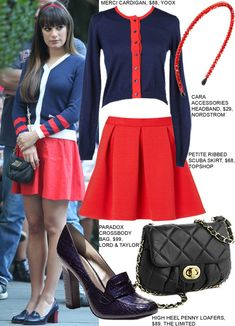 Copy Lea Michele's Glee Season 3 Outfit For Back To School