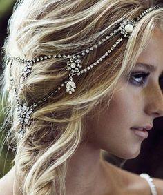 Bridal Hair Chain Headpiece