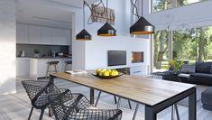 Dostępny - niewielki dom z nowoczesnymi akcentami Home Renovation, Home Remodeling, Home Office Design, House Design, Passion Deco, Facade House, Design Case, Home Fashion, Living Room Designs