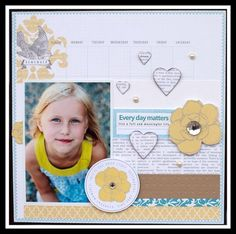 Teresa Collins - Everyday Moments layout by dt member Jamie Harder