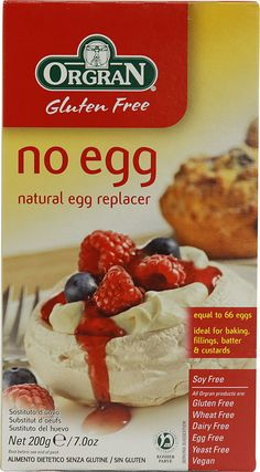 Orgran No Egg Natural Egg Replacer Gluten Free--can be used to make meringue