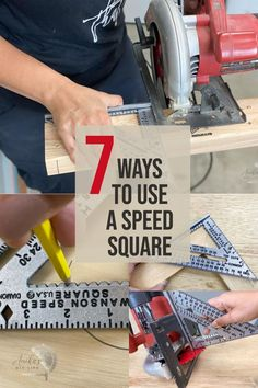 A simple guide for beginners to learn how to use a Speed Square or carpenter's square in woodworking. Learn about all the features and uses! #woodworkingtools #speedsquareguide #AnikasDIYLife