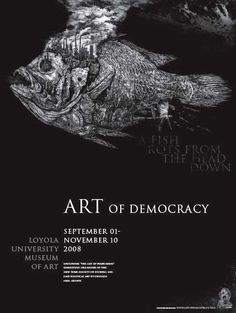 Political poster for the Art of Democracy campaign by Michael Goro Political Posters, Design Research, Communication Design, Etchings, Typography Design, Graphic Illustration, Art Museum, Printmaking, Fine Art Prints