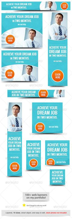 Best Job Web Banner Design Template PSD | Buy and Download: http://graphicriver.net/item/best-job-web-banner-design/8314011?WT.ac=category_thumb&WT.z_author=admiral_adictus&ref=ksioks