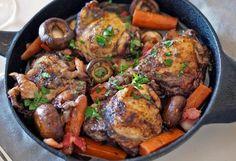 Птица с овощами тушеная с добавлением бульона Империя вкусов Classic French Dishes, Marinated Chicken, Nom Nom, Pork, Healthy Recipes, Meals, Vegetables, Cooking, Romantic
