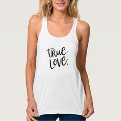 True Love. Shirt - stylish girls fashion tee black and white typography