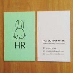 Business Cards #selfpromotion #graphic #design #illustration #playful #rabbit #fun #handdrawn #typography