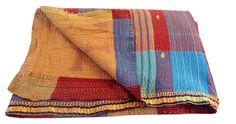 #oldsarikanthathrow #blanket #bedsperd BY #CraftsOfGujarat #craftnfashion #meghcraft #indianethnicjewelry