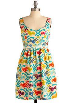 Girly Bird Gets the Dress, #ModCloth
